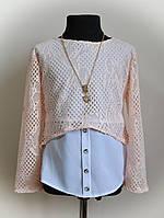 Блуза для девочки, детская, персикового цвета