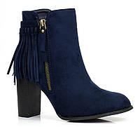 Демисезонные женские ботинки на каждый день, синего цвета Размер 35-39