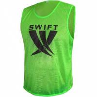 Футбольная манишка Swift салатовая (сетка)