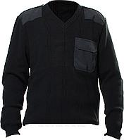 Свитер вязанный, цвет черный