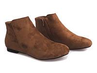 Короткие замшевые,женские ботинки на низком ходу размеры 37,38,40