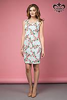 Стильное голубое платье Арлет Luzana 42-50 размеры