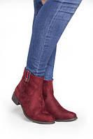 Удобные женские ботинки на маленьком каблуке от производителя с Польши