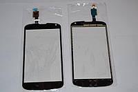 Тачскрин / сенсор (сенсорное стекло) для LG Google Nexus 4 E960 (черный цвет)
