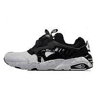 Мужские кроссовки Puma Trinomic Black And White (пума оригинал) чёрно-белые