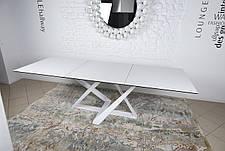 Стол Fleetwood ( Флитвуд ) Nicolas, стекло + керамика, белый глянец, фото 2
