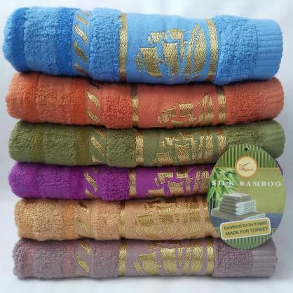 БАННОЕ махровое полотенце. Бамбук. Махровые полотенца оптом 86-1