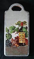 Буковая разделочная доска - декупаж, промасленная, 115/95 (цена за 1 шт. + 20 гр.)