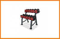 Гантельный ряд со стойкой Marbo-Sport 5-17,5 кг