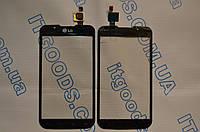Тачскрин / сенсор (сенсорное стекло) для LG Optimus L7 Dual SIM P715 P716 (черный цвет)