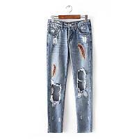 Модные рваные джинсы, фото 1