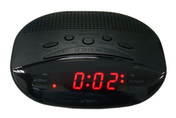 Часы эл. VST908-1 + радио крас.цифры