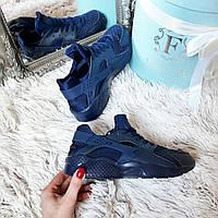 Женские кроссовки Копия бренд темно-синие код238