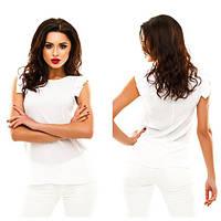 Стильная летняя блузка,по бокам с разрезами