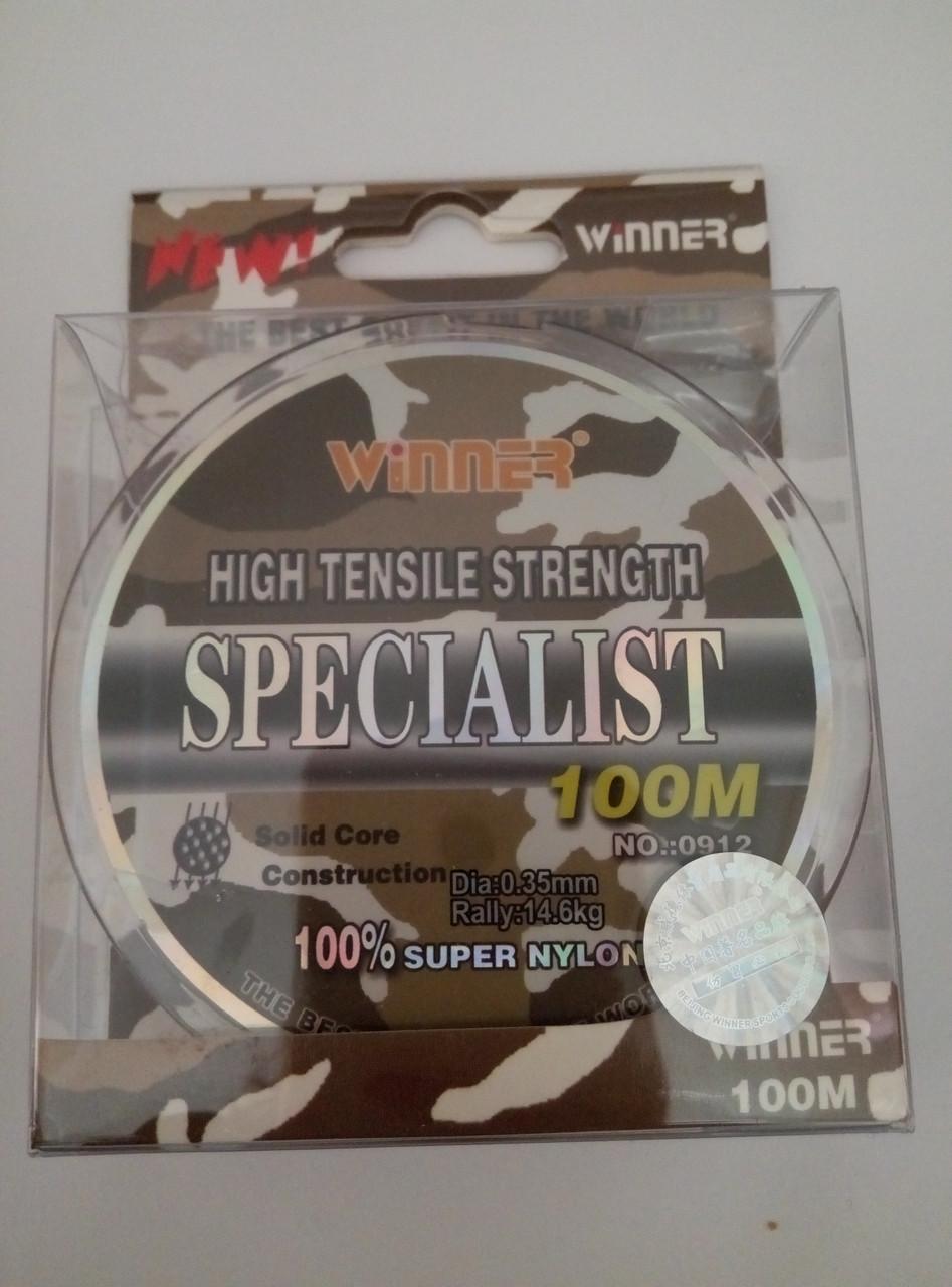 Монофільная волосінь WINNER SPECIALIST 100m 0.35 mm 14,6 кг