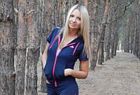 Спортивная женская кофта с коротким рукавом