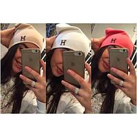 Женская шапка трикотажная  HERMES