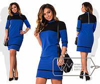 Очаровательная модель женского платья с воротничком