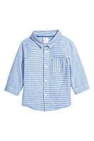 Хлопковая рубашка, р. 68-74, H&M (Hennes & Mauritz)