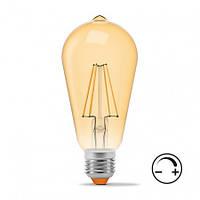 Лампа LED ST64FAD 6W 2200K E27 540 Lm VIDEX диммируемая