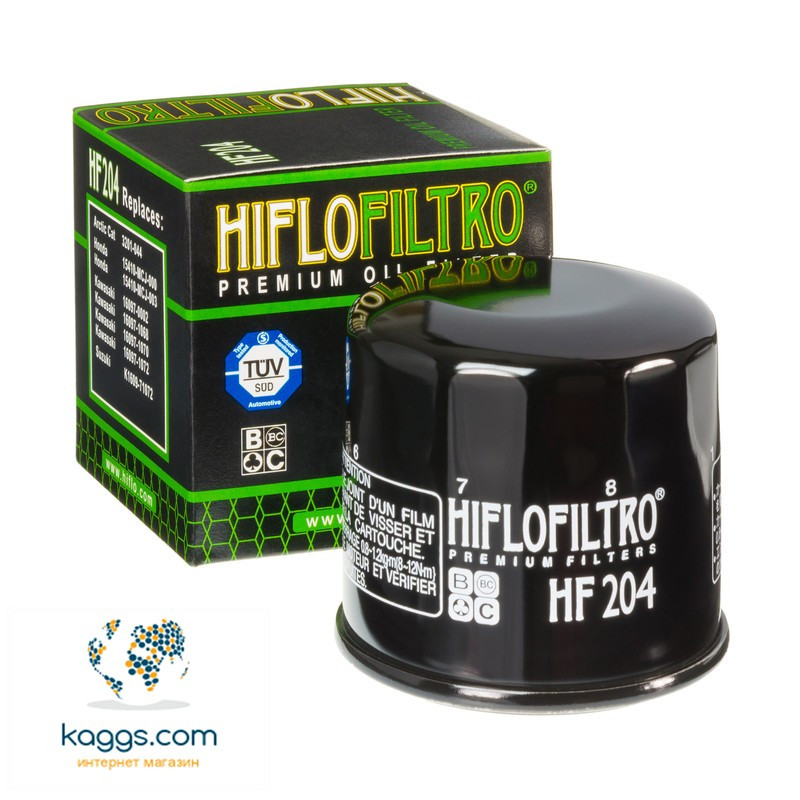 Масляный фильтр Hiflo HF204 для Arctic Cat, Honda, Kawasaki, Mercury / Mariner, MV Agusta, Suzuki, Yamaha.