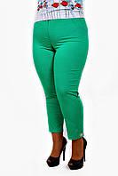 Летние брюки большого размера 7/8 зеленый