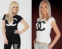 Стильная футболка с брендовой накаткой D&G, Chanel