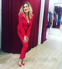 Женские брюки коралловые брендовые Италия, фото 3