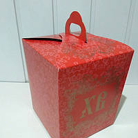 Коробка для Паски (упаковка 3шт.) Красная