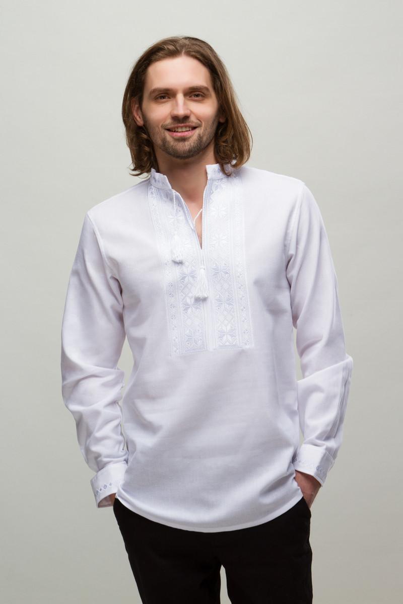 cdc79a2f0773 Чоловіча вишиванка Орій білий на білому - Інтернет-магазин