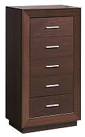 Комод 60/5 Клео (SM), элемент модульного комплекта мебели для спальни, темный венге 616*1120*385