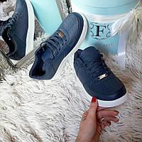 Женские кроссовки Nike air force темно-синие форс код 239