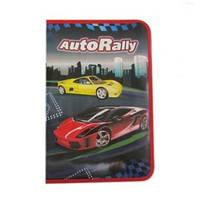 "Папка для труда (на змейке) A4 картон ""Auto rally"" 7872"