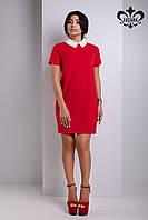 Красное женское платье Дионис  Luzana 42-50 размеры