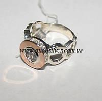 Кольцо из серебра и золота Афродита