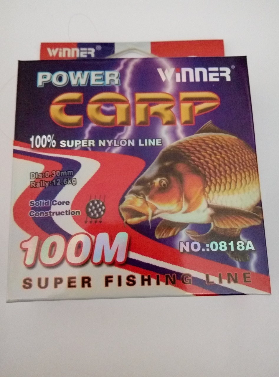 Леска POWER Carp Winner-100m/0.30mm  12.6кг