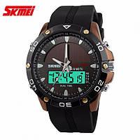 Спортивные водостойкие часы Skmei Solar 1064 с солнечной батареей, ГАРАНТИЯ 6 мес.