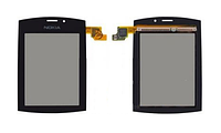Тачскрин / сенсор (сенсорное стекло) для Nokia Asha 303 (черный цвет)