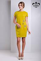 Женское оливковое платье Зарина  Luzana 42-50 размеры