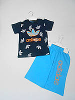 Adidas костюм футболка и шорты от 2 до 8 лет