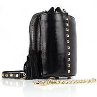 Клатч-сумочка женская черная с шипами Valensiy 2323