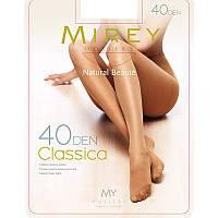 Тонкие классические прозрачные колготки c усиленным носком Мирей 40den cls40