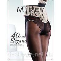 Колготки с ажурными трусиками Mirey c ластовицей и усиленным носком 40 den elg40