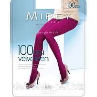 Колготки Мирей капроновые цветные матовые эластичные из микрофибры c ластовицей и носком 100 den velv100