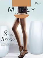Шелковистые, очень тонкие колготки Mirey для лета 8 den с ластовицей оптом breez8 оптовый магазин колготок