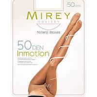Эластичные полуматовые поддерживающие утягивающие колготки Mirey c усиленным носком 50den inm50