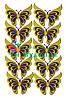 Вырубка из фетра Бабочка ажурная фиолетовый желтый
