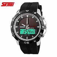 Спортивний водостійкий годинник Skmei Solar 1064 silver з сонячною батареєю, ГАРАНТІЯ 6 міс.