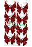 Вырубка из фетра Бабочка ажурная черный красный