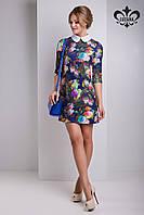 Стильное женское платье с принтом Пэрис Luzana 42-50 размеры